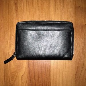 Barney's black leather wallet